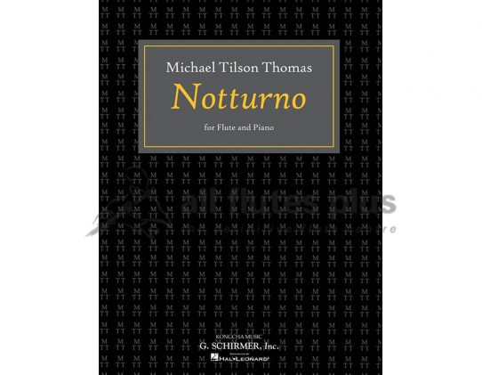 Michael Tilson Thomas Notturno-Flute and Piano-Schirmer