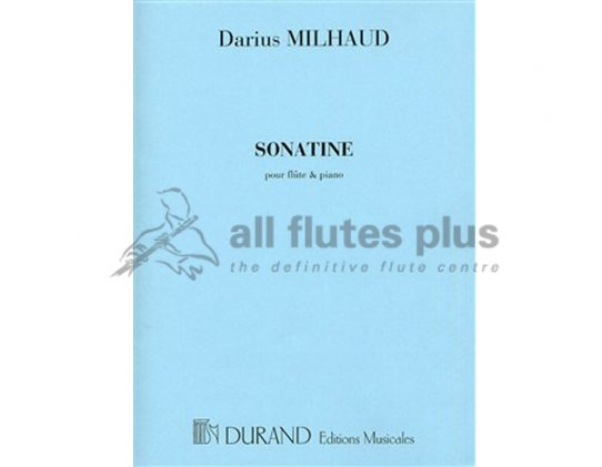 Milhaud Sonatine-Flute and Piano-Durand
