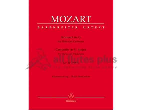 Mozart Concerto in G Major-KV313-Flute and Piano Reduction-Barenreiter