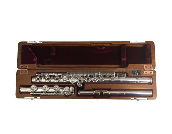 Nagahara Secondhand Handmade Silver Flute with 14K Gold Lip-c6950
