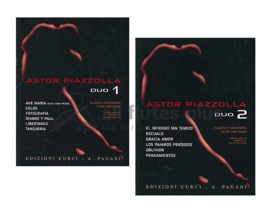 Piazzolla Duo-Flute and Piano-Edition Curci