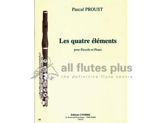 Proust Les Quatre éléments-Piccolo and Piano-Combre