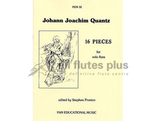 Quantz 16 Pieces-Solo Flute-Pan Educational Music