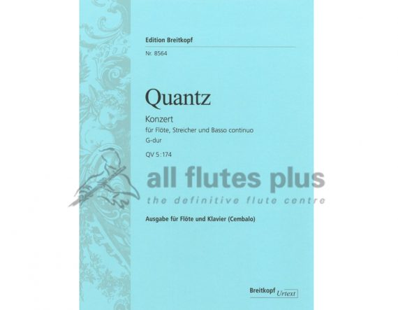Quantz Concerto G major QV 5:174-Flute and Piano-Breitkopf