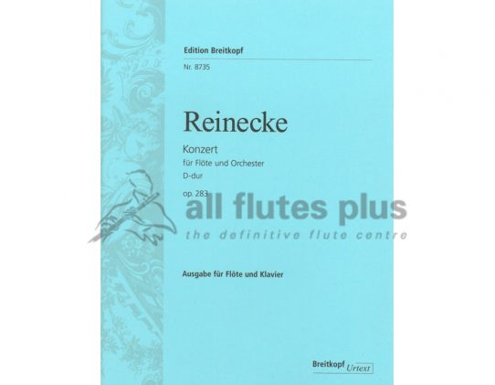 Reinecke Concerto Opus 283-Flute and Piano Reduction-Breitkopf