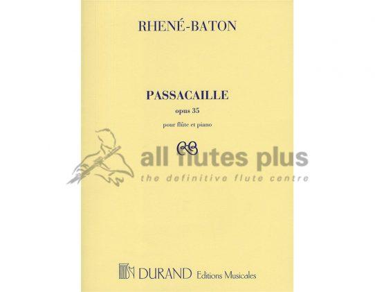 Rhene-Baton Passacaille Opus 35-Flute and Piano-Durand