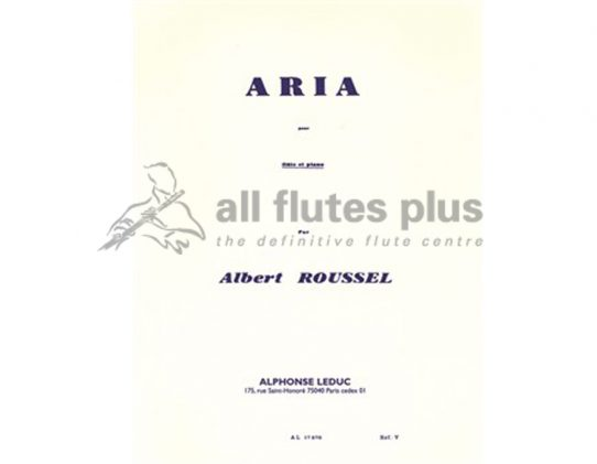 Roussel Aria-Flute and Piano-Leduc