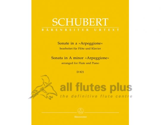 Schubert Sonata in A Minor D821-Flute and Piano-Barenreiter