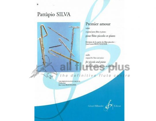 Silva Premier Amour Valse-Piccolo and Piano-Billaudot