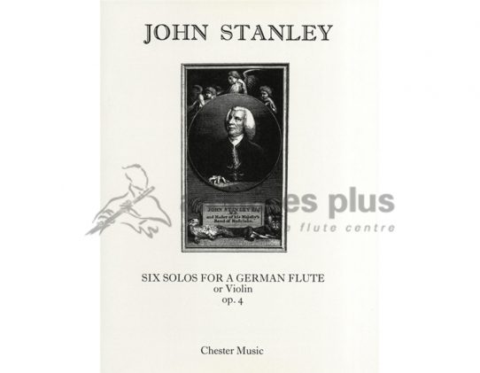 Stanley Six Solos for a German Flute or Violin Op 4-Chester Music