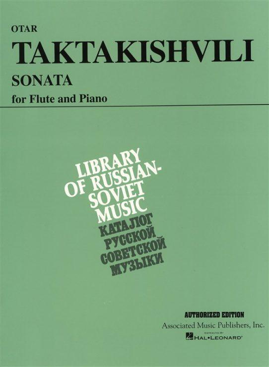 Taktakishvili Sonata-Flute and Piano-Schirmer