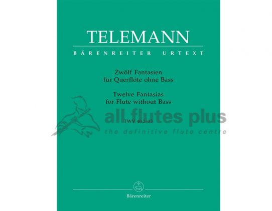 Telemann 12 Fantasias-Flute-Barenreiter
