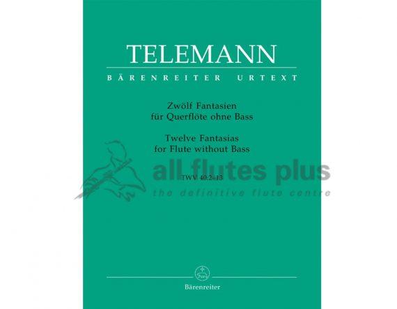 Telemann 12 Fantasias-Flute without Bass-Barenreiter