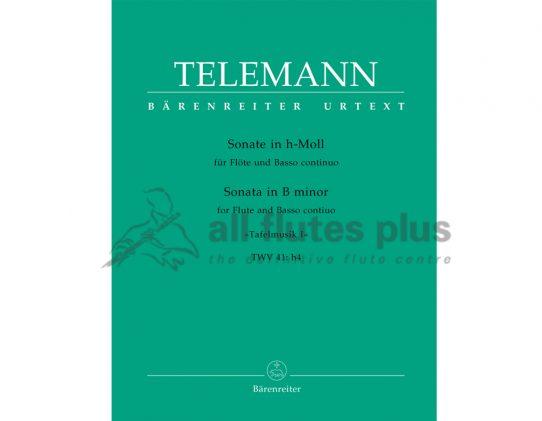 Telemann Sonata in B minor TWV 41:h4 Bärenreiter