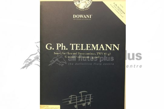 Telemann Sonata in G minor-Flute and Piano with CD-Dowani