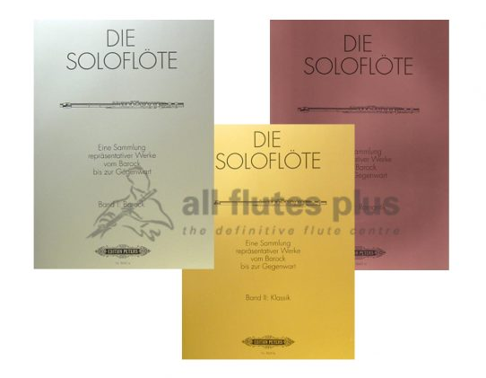 The Solo Flute-Peters Edition-Band I II and III