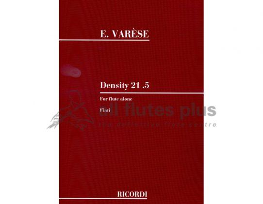 Varese Density 21.5-Solo Flute-Ricordi