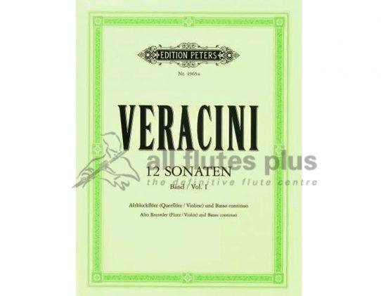 Veracini 12 Sonatas For Recorder Peters Edition