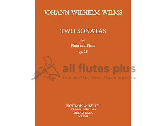 Wilms Two Sonatas Opus 18-Flute and Piano-Musica Rara