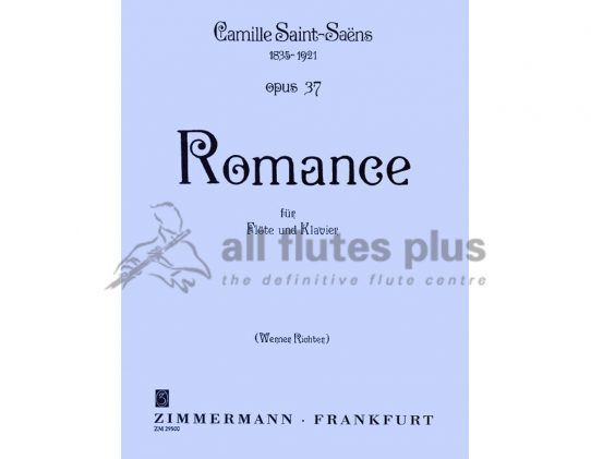 Saint-Saens Romance Opus 37-Flute and Piano-Zimmermann