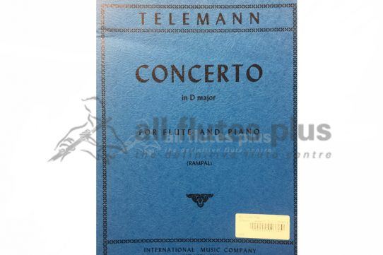 Telemann Concerto in D-Flute and Piano-IMC