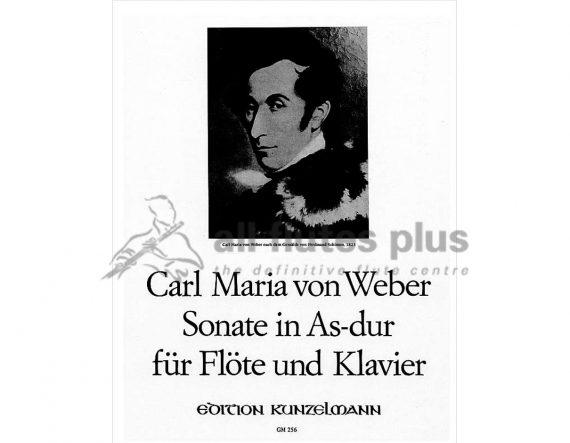Weber Sonata in A Flat Major Opus 39-Flute and Piano-Kunzelmann