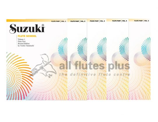 Suzuki Flute School Volume 1-5-Revised Edition
