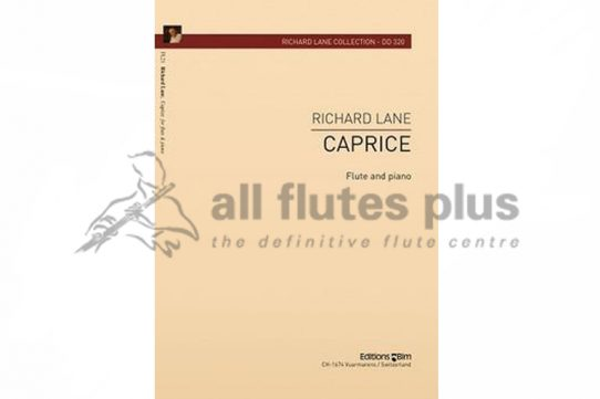 Caprice by Richard Lane-Flute and Piano-Editions BIM