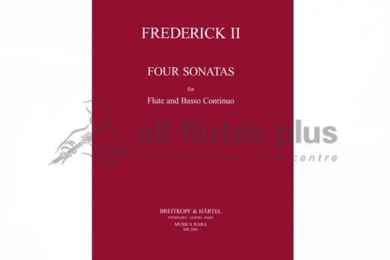 Frederick the Great Four Sonatas for flute and basso continuo-Musica Rara
