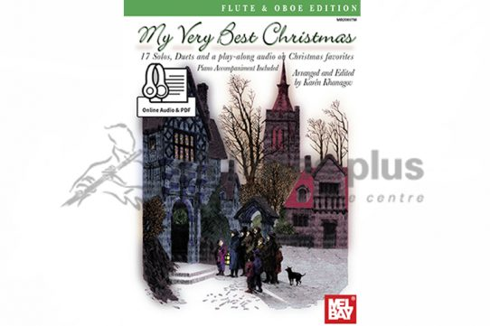 My Very Best Christmas Flute Oboe Edition-Mel Bay-CD Included