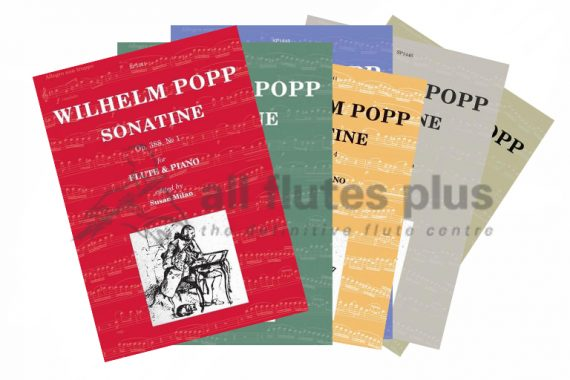 Popp Sonatine Opus 388 Series-Flute and Piano-Spartan