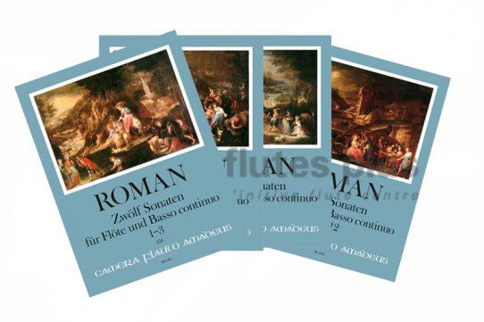 Roman Twelve Sonatas-Flute and Basso Continuo-Amadeus