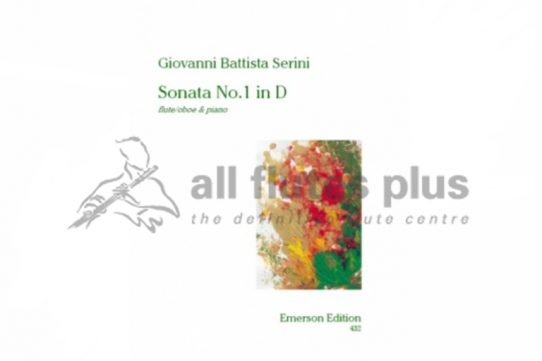 Serini Sonata No.1 in D major-Flute and Piano-Emerson Edition
