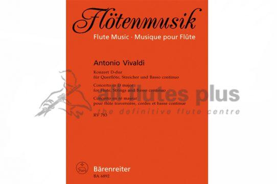 Vivaldi Flute Concerto in D-Dur RV783-Barenreiter