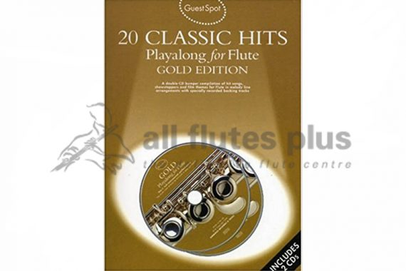 20 Classic Hits Playalong For Flute Gold Edition-Guest Spot Including CDs