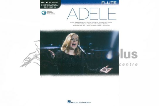 Adele Flute Hal Leonard Instrumental Play-Along-Book and Online Audio