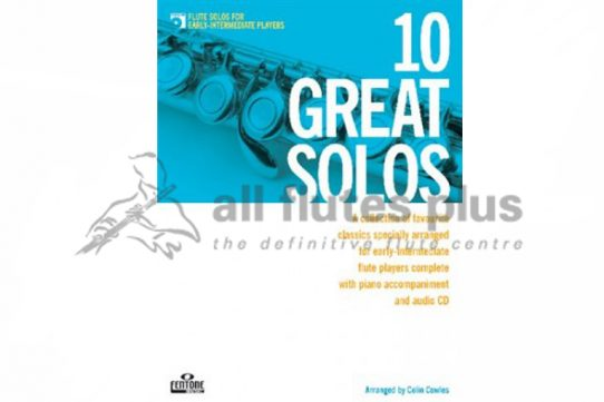 10 Great Solos Flute with CD Play-Along-Colin Cowles-Fentone