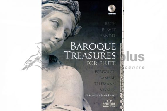 Baroque Treasures For Flute with CD Playalong-Fentone