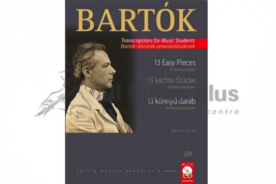 Bartok 13 Easy Pieces-Flute and Piano with CD-EMB