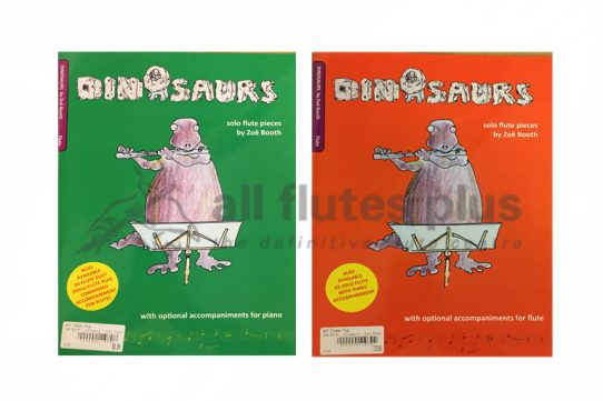 Dinosaurs Solo Flute Pieces by Zoe Booth-Pipeblower Publishing