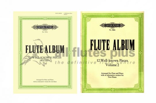 Flute Album-Flute and Piano or Two Flutes with CD Playalong-Peters Edition