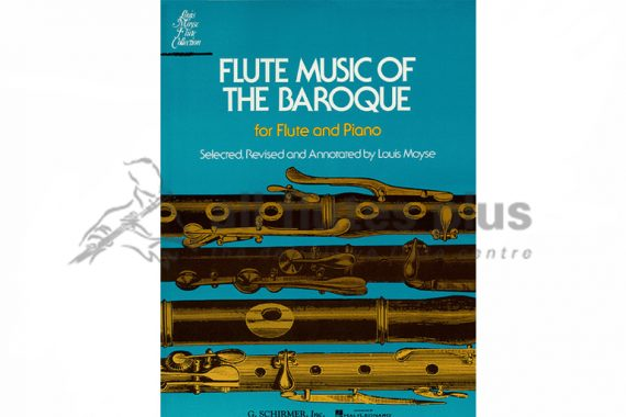 Flute Music of the Baroque-Flute and Piano-Schirmer