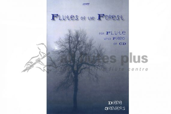 Flutes Of The Forest-Flute and Piano with CD-Diana Sanders-Spartan Press