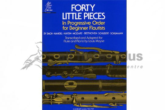 Forty Little Pieces in Progressive Order for Beginner Flautists-Flute and Piano-Schirmer