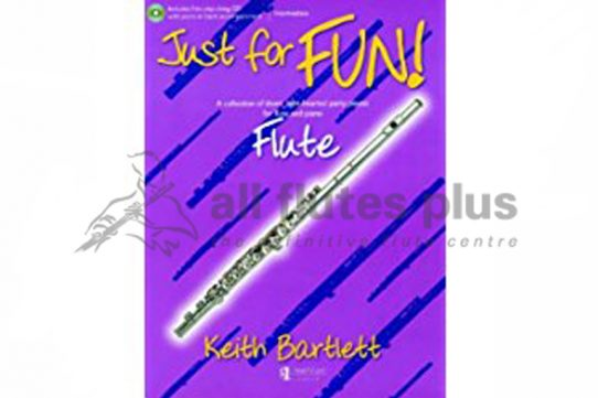 Just For Fun-Flute and Piano with CD Play-Along-Keith Bartlett-UMP