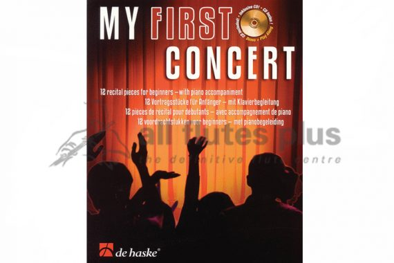 My First Concert-12 Recital Pieces for Beginners-Flute and Piano With CD