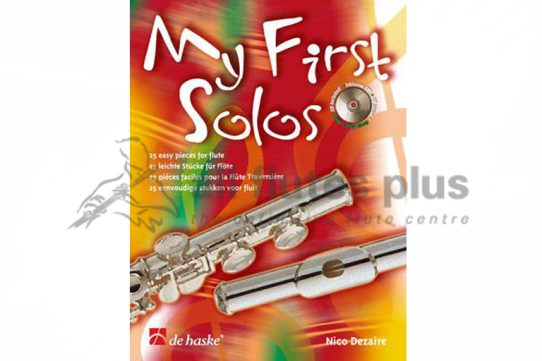My First Solos-25 Easy Pieces for Flute with Playalong CD-De Haske