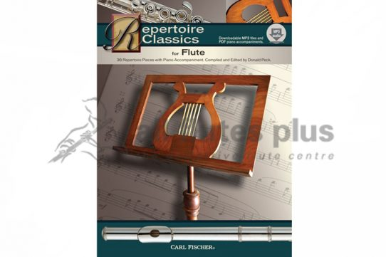 Repertoire Classics for Flute-Flute Book and Audio/PDF Piano Accompaniment-Carl Fischer
