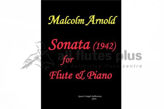 Arnold Sonata 1942-Flute and Piano-Queens Temple Publications