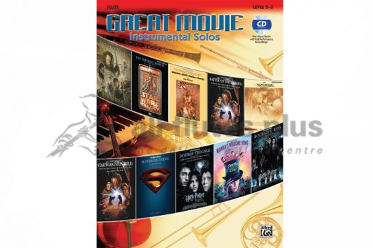 Great Movie Instrumental Solos-Flute with CD-Alfred